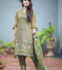 Brand..sareene…. Embroidered Chiffon suit