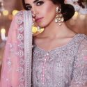 Maria b Net bridal embroidery suit net embroidery dupata master replica